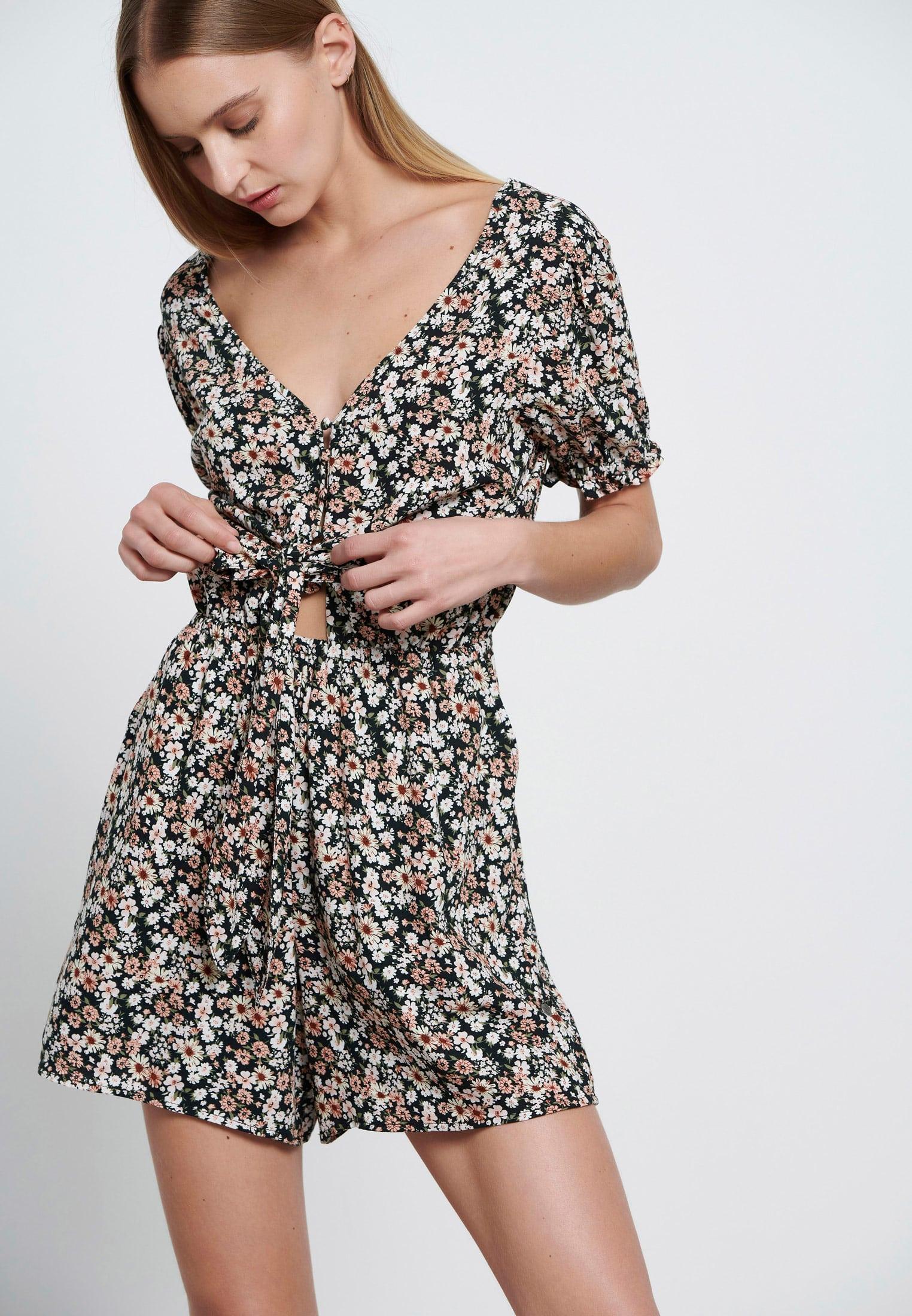 Viscose ολόσωμη φόρμα με floral τύπωμα