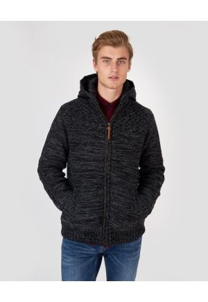 Zip up knitted cardigan