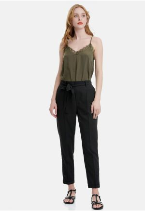 Paperbag Waist Trousers With Belt