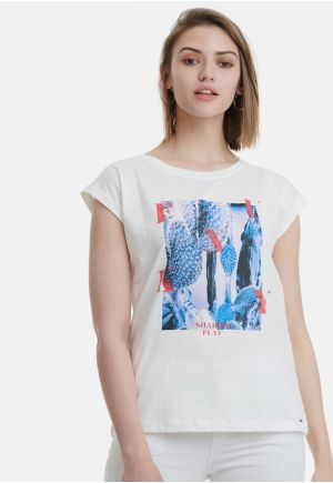 Cotton T-Shirt with Artwork