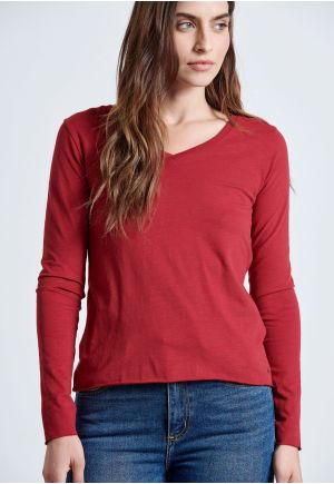 Essential V Neck Longsleeve