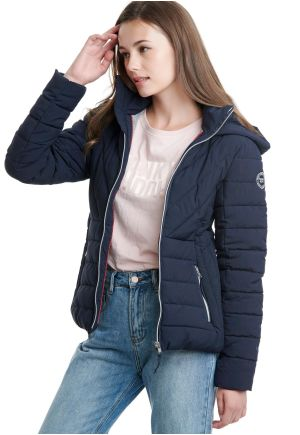 Hooded Padded Jacket with side pocjets