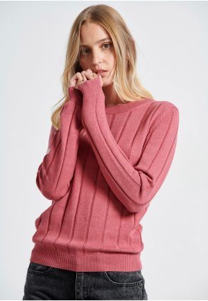 Crew Neck Pullover In textured knit