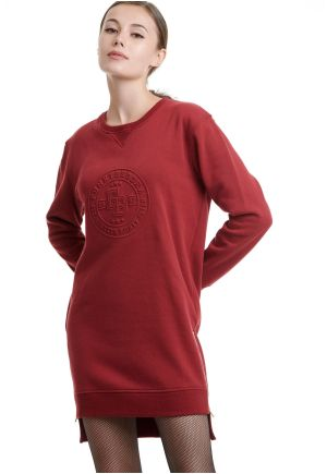 Embossed Logo Mini Sweater Dress