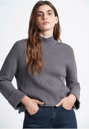 MockNeck Knitted Sweater