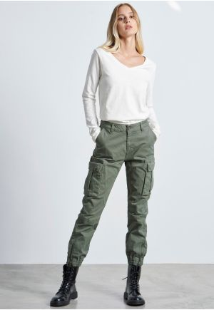 Comfort-Stretch Cargo Utility Trousers