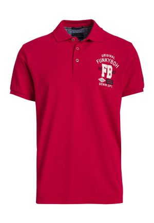 Polo Pique with Embroidered Chest Logo