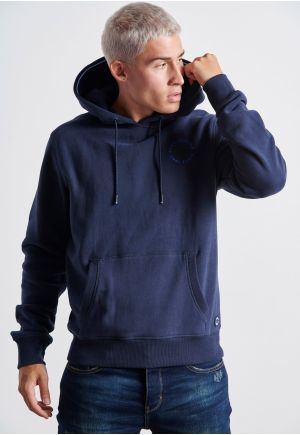Small Contrast Logo Hoodie