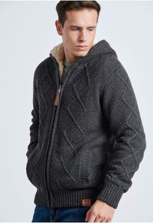 Zip-Up Pullover with Soft Teddy Lining