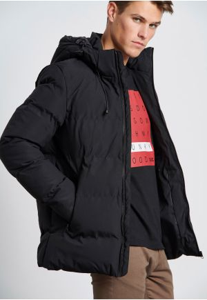 Hooded Puffer Jacket with side pocjets