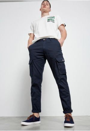 Cargo pants with jacquard design