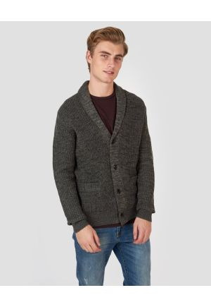 Knitted cardigan with buttons