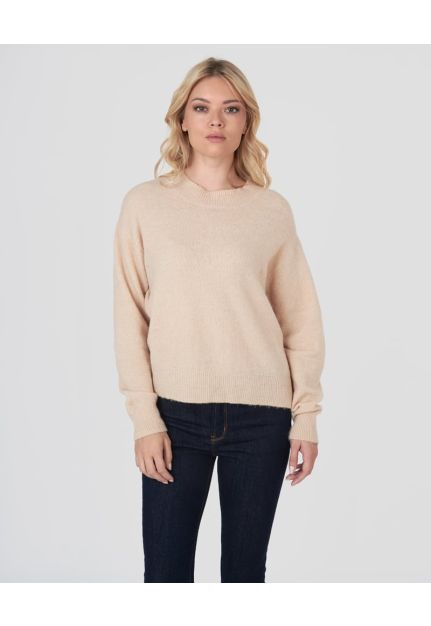 Knitted plain pullover