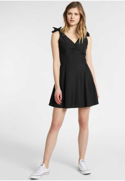 A-line mini dress with bow straps