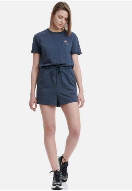 Sweat Playsuit With Logo
