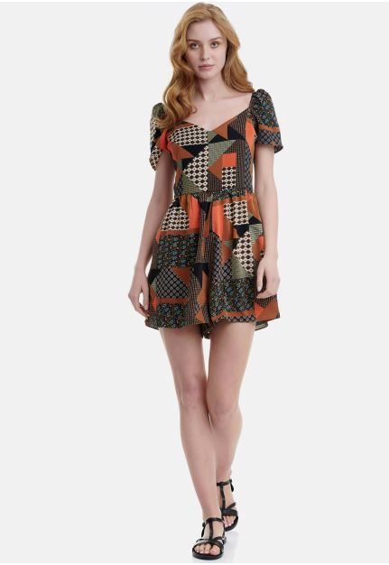 Playsuit/Jumpsuit in all-over Print
