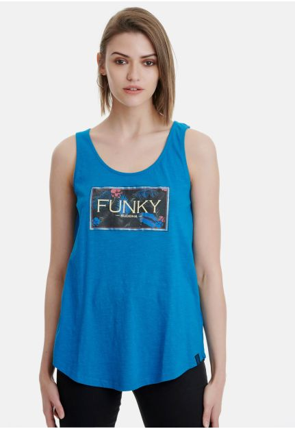 Cotton Tank Top With Chest Logo