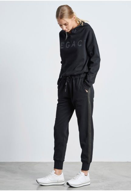 Cuffed Joggers with side stripe