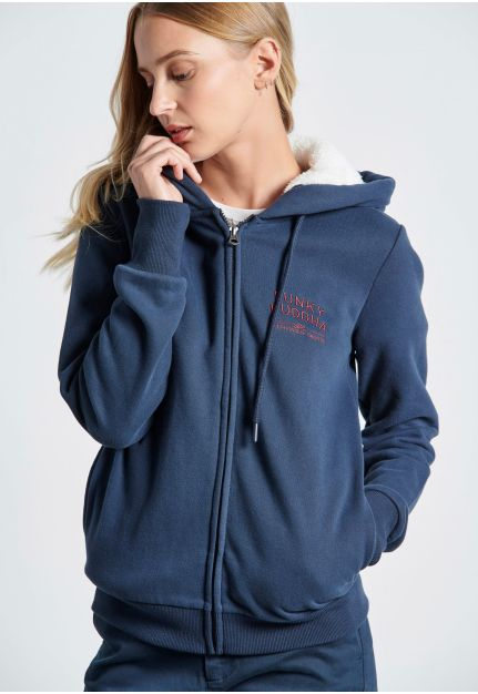 Zip-Up Hoodie with small chest Print