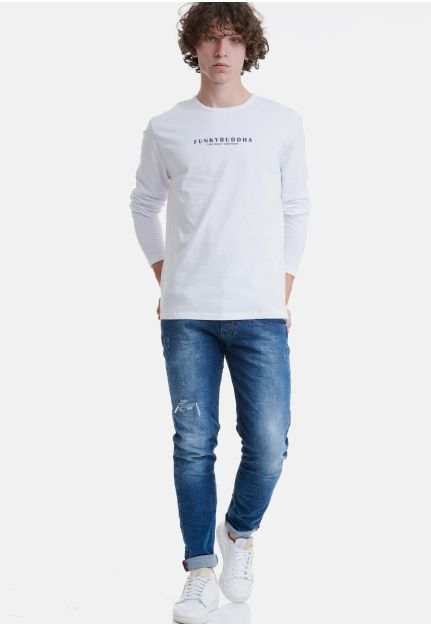 Long Sleeve Top With Logo
