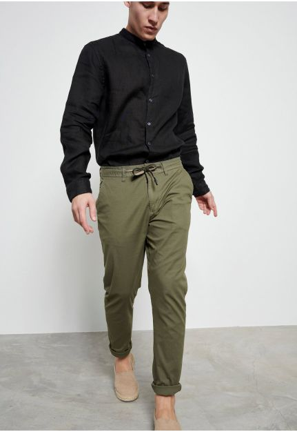 All-Over Printed Chinos