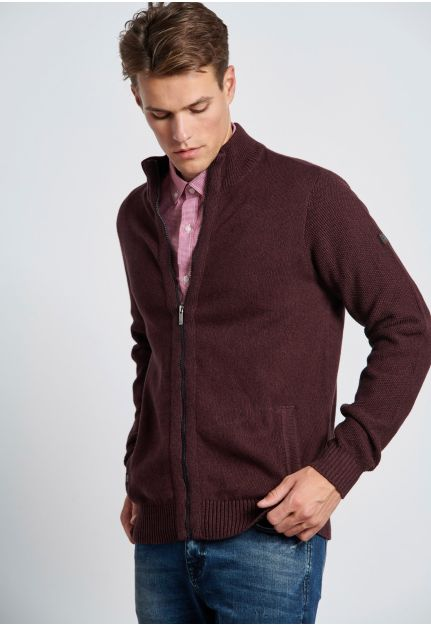 Double Knit Zip-Up Pullover