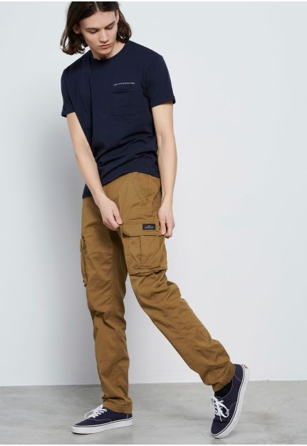 Cotton crew neck t-shirt with chest pocket