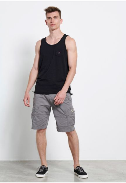 Essential tank top with chest pocket