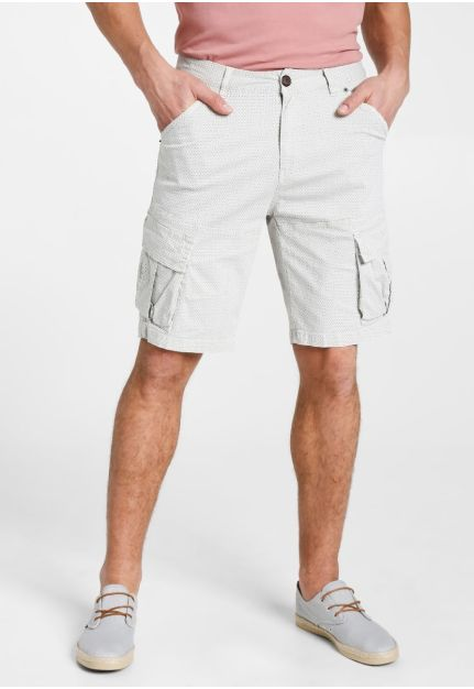 CARGO SHORTS ΜΕ ALLOVER ΤΥΠΩΜΑ